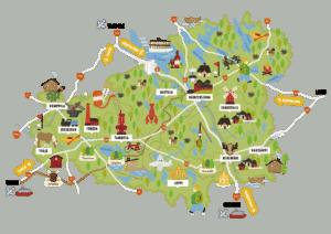 Visit Häme - kartta, map