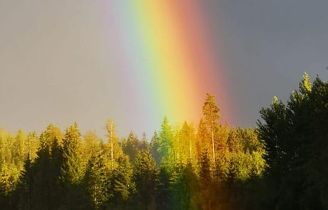 Ypäjä, sateenkaari, rainbow.