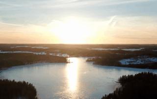 Hausjärvi, auringonlasku, sunset.
