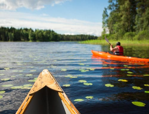 See the lakes from all directions by kayaking
