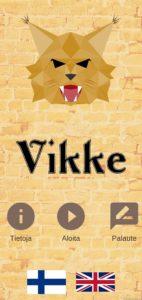 VIKKE_peli_aloitussivu_start