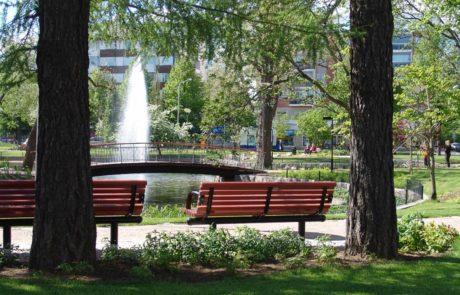 Forssan kansallinen kaupunkipuisto Ankkalammen puisto ja penkit