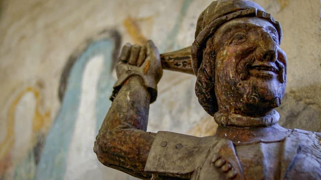 Yksityiskohta Hattulan kirkon sisältä