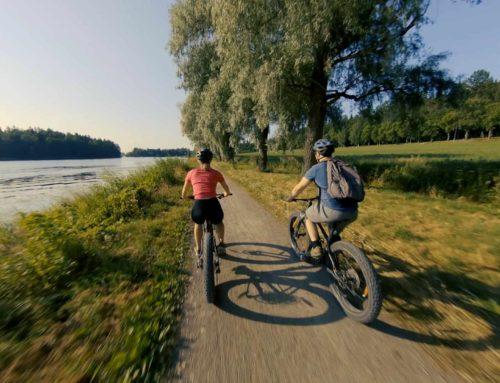 Lumoudu maisemista Hämeenlinnan seudun pyöräilyreiteillä